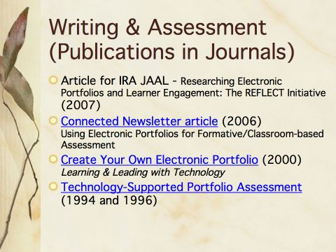 writing essays and creating portfolios are what type of assessment